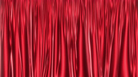 atlaszfényû : UHD 3D 60 fps animation of the red glossy curtain, alpha matte is included