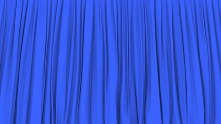 png : Stage or window blue curtain PNG plus alpha 3D animation
