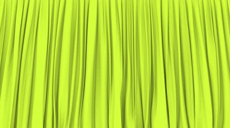 png : Stage or window light-green curtain PNG plus alpha 3D animation