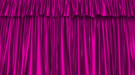 duyuru : UHD 3D animation of the textured pink curtain with alpha matte