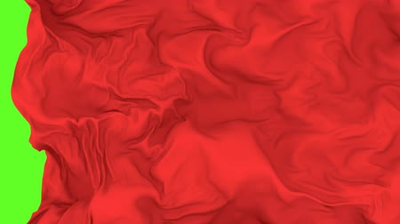abridor : UHD 3D animated opener or transition of the red waving cloth revealing a background