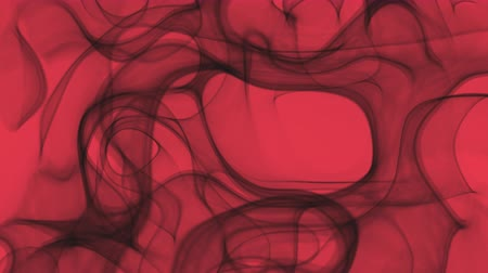 UHD looping 3D animation the smoky pattern against a red background, alpha matte is included