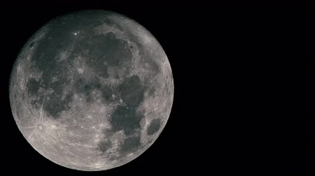 lunar surface : Real-time very detailed UHD extreme closeup shot of the moon Stock Footage