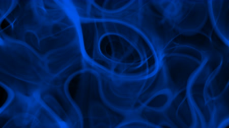 UHD looping 3D animation the blue smoke against the black background, alpha matte is included