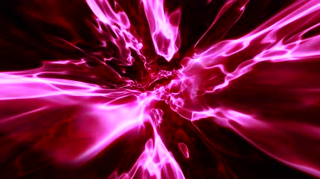 UHD camera fly-through looping abstract red energy motion 3D animated background