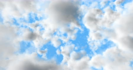Cinema 4K 24 fps 3D animation of the realistic blue cloudy sky Wideo