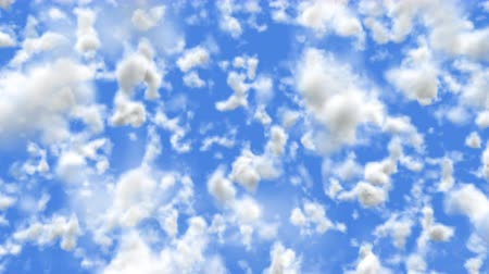 UHD 60 fps 3D animation of the realistic blue cloudy sky