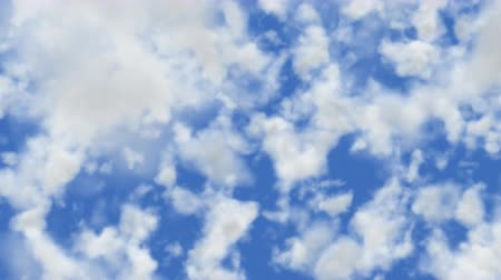 momento : UHD 60 fps 3D animation of the realistic blue cloudy sky with alpha matte