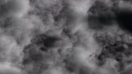 UHD 3D animation of the realistic dark stormy cloudy sky
