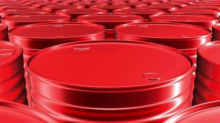 Looping 60 fps 3D animation of the red oil barrels in UHD
