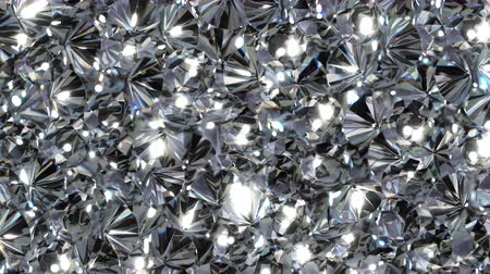 faceta : UHD shallow DOF looping 3D animation of the shining diamonds Stock Footage