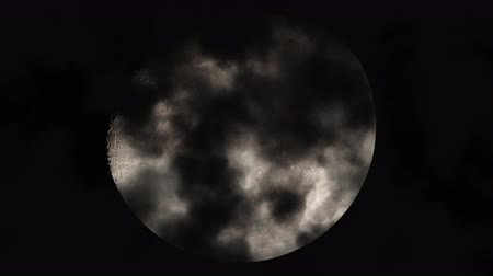 lunar : UHD shot of the moon with 3D animated realistic clouds