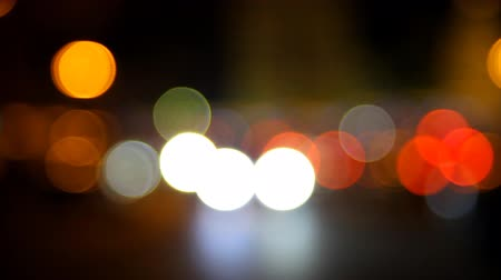 боке : City traffic at night with Bokeh background