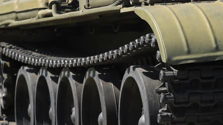 armoured : Caterpillar of a military battle tank