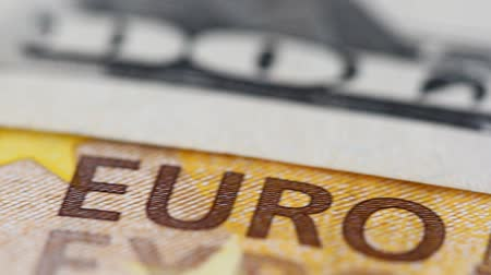 us banknotes : Background from euro banknotes and dollars