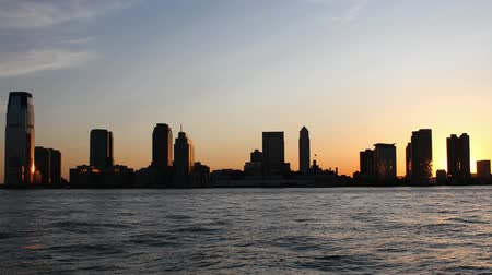 centrum : Timelapse New York in motion sunset