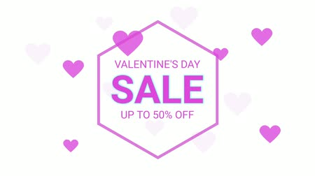 seasonal sale : Valentines day sale neon letter and heart symbol on the white color for promotion sale and for clearance sale and for promote sale season.