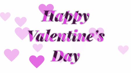 calligraphic : Happy Valentines Day Typography and heart symbol