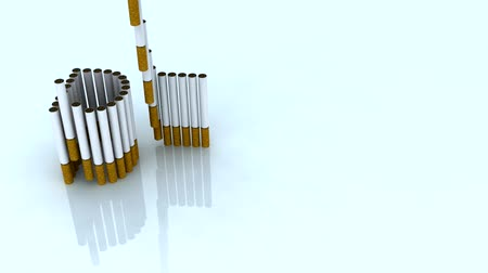 smoke kills : written death with cigarettes, 3d animation