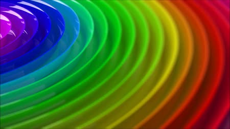 Rainbow colorfull blurred background, 3d animation loop