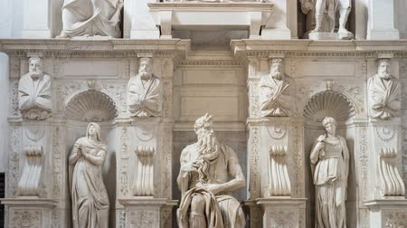 The Moses by Michelangelo, Rome, Italië