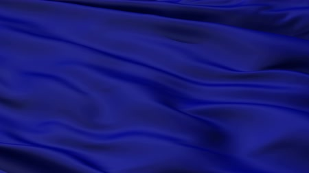 kumaş : A background of rippled and folded deep royal blue fabric material. Stok Video