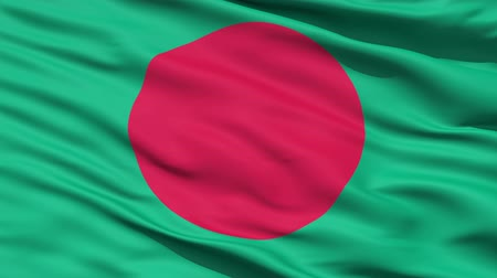 bloodshed : Waving Flag Of Bangladesh with a red disc symbolising the sun rising over green land.