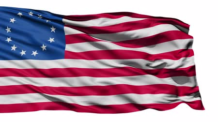 blue flag : United States Betsy Ross Flag, the first flag of the US with 13 stars and said to be created by Betsy Ross