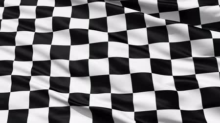 esportivo : Fluttering Black And White Chequered or Checkered Flag used in racing and motorsport events.