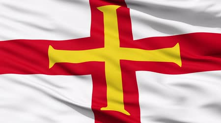 alegorie : Flag Of The Bailiwick Of Guernsey with a gold cross on the St George Cross. Dostupné videozáznamy