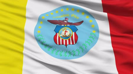 alegorie : Columbus Waving American State Capital City Flag Animation