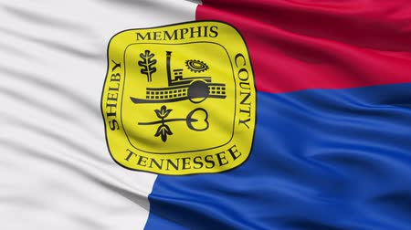 alegorie : Memphis Waving American State Capital City Flag Animation