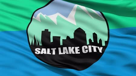 alegorie : Salt Lake City Waving American State Capital City Flag Animation