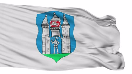 bělorusko : Mahilou flag, city of Belarus, realistic animation isolated on white seamless loop - 10 seconds long (alpha channel is included) Dostupné videozáznamy