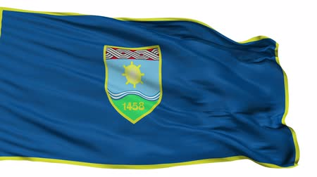kivágott : Zepce flag, city of Bosnia Herzegovina, realistic animation isolated on white seamless loop - 10 seconds long (alpha channel is included)