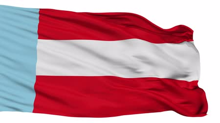 Колумбия : Salamina Caldas flag, city of Colombia, realistic animation isolated on white seamless loop - 10 seconds long (alpha channel is included)