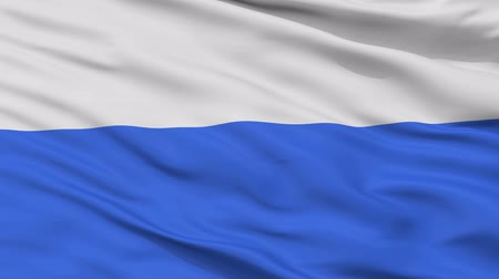 pano : Krakow closeup flag, city of Poland, realistic animation seamless loop - 10 seconds long Stock Footage