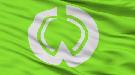 Iiyama close up flag, Nagano prefecture, realistic animation seamless loop - 10 seconds long Dostupné videozáznamy