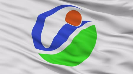 Imabari close up flag, Ehime prefecture, realistic animation seamless loop - 10 seconds long