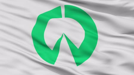 Inazawa close up flag, Aichi prefecture, realistic animation seamless loop - 10 seconds long
