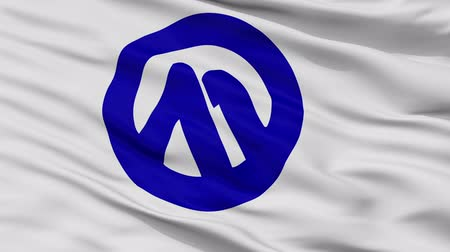 Komagane close up flag, Nagano prefecture, realistic animation seamless loop - 10 seconds long