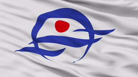 Kyotango close up flag, Kyoto prefecture, realistic animation seamless loop - 10 seconds long