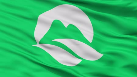 Mine close up flag, Yamaguchi prefecture, realistic animation seamless loop - 10 seconds long