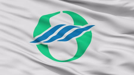 Nagahama close up flag, Shiga prefecture, realistic animation seamless loop - 10 seconds long
