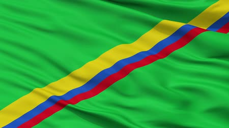 colômbia : Firavitoba  closeup flag, city of Colombia, realistic animation seamless loop - 10 seconds long Vídeos