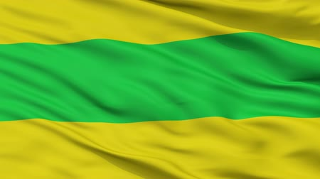 Виргиния : La Virginia  closeup flag, city of Colombia, realistic animation seamless loop - 10 seconds long