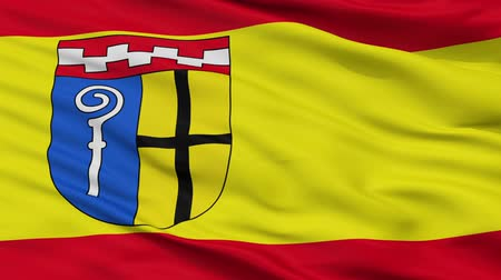 germany : Monchengladbach closeup flag, city of Germany, realistic animation seamless loop - 10 seconds long