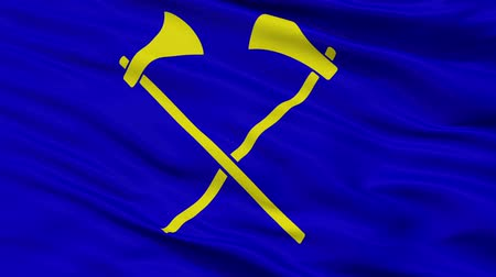 Çırpınan : Saint Helier closeup flag, city of Jersey, realistic animation seamless loop - 10 seconds long