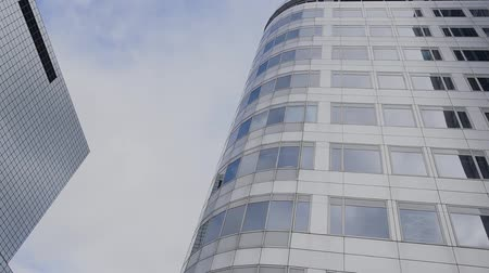 bund : View of modern Rotterdam skyscrapers. Stock Footage