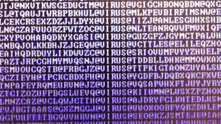 flashing random letters on the computer monitor even with the text Stok Video
